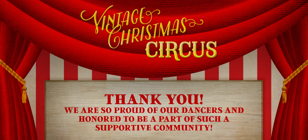 Vintage Christmas Circus - Website Banner