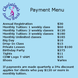 Automatic Monthly Tuition-New